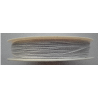 0.5mm  Cotton Cord white. Price per 25 metres