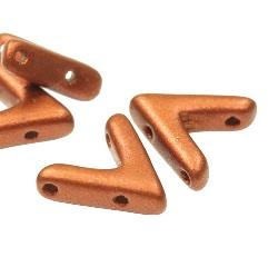 10 Pack Czech AVA Beads Copper 00030 01750
