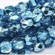 50 pack 3 mm Fire Polished Crystal Aqua Metallic Ice 00030 67675