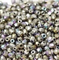 50 pack 3mm Fire Polished Cry Etch Glitter Argentic 00030 98554E