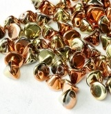 50 pack 4mm Button Beads Crystal California Goldrush 00030 98542