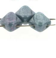 40 pack 2 hole Silky Beads Chalk Blue Lustre 03000 14464