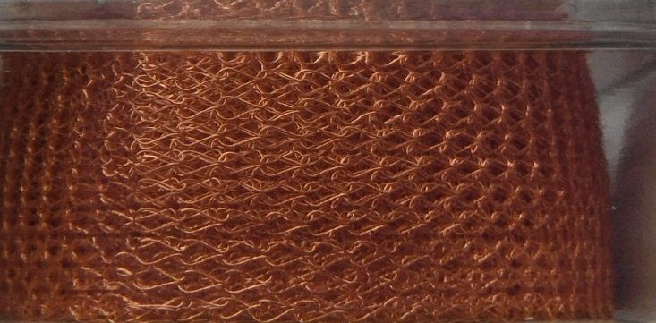 A 1 metre length of 15 mm wide 1000 Series WireKnitZ Copper