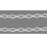 CHFSLF12 Silver Colour Lead Free Chain per Metre