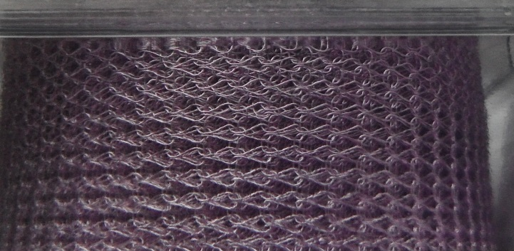 A 1 metre length of 15 mm wide 1000 Series WireKnitZ Lilac