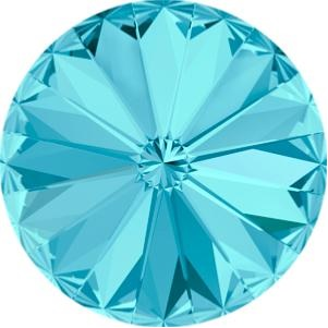 18 mm Swarovski Rivoli Aquamarine Foiled