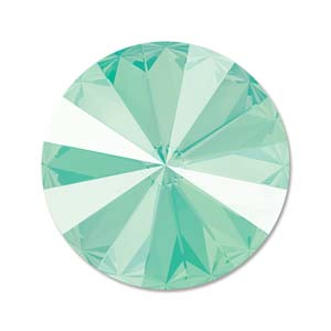 14 mm Swarovski Rivoli Crystal Mint Green Unfoiled