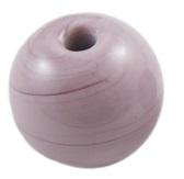 Chinese 12 mm round opaque glass bead Purple