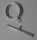 15mm Sterling Silver Toggle Clasp 1 pack