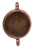 16 mm Copper Plated Patera Double Loop Round Bezel