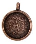 16mm Copper Plated Patera Single Loop Round Bezel