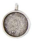 16mm .999 A Silver Plated Patera Single Loop Round Bezel