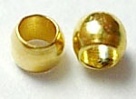 CBGNF01 1.2mm Gold Colour Nickel Free Crimp Beads 100 pack