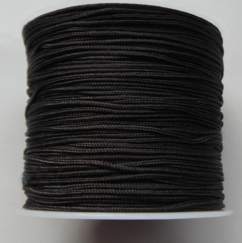 1mm Nylon Cord in dark brown Price per 40 metre roll