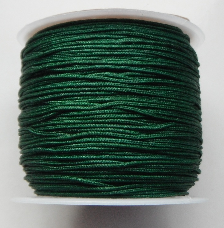 1mm Nylon Cord in dark green Price per 40 metre roll