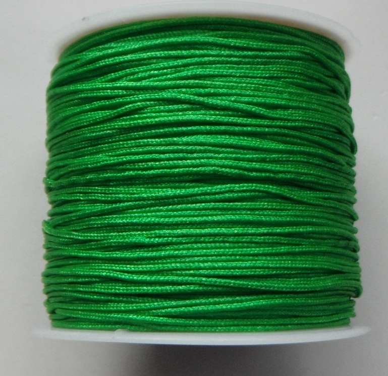 1mm Nylon Cord in green Price per 40 metre roll