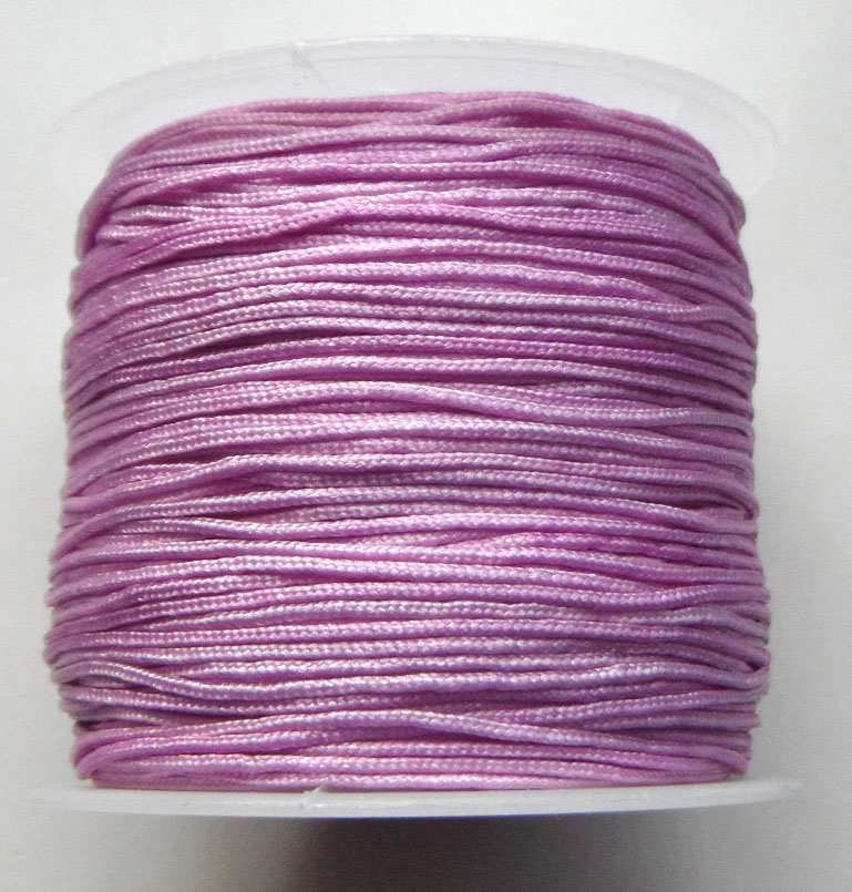 1mm Nylon Cord in lilac. Price per 40 metre roll