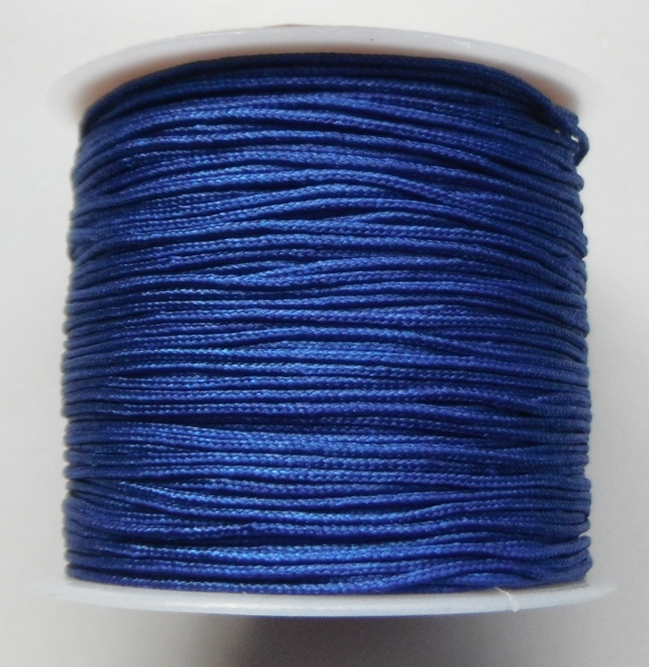 1mm Nylon Cord in royal blue Price per 40 metre roll