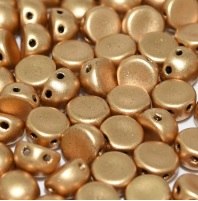 20 pack 2 hole 6mm glass Cabochons Aztec Gold 00030 01710