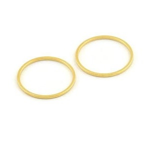 20x1mm gold coloured brass Circle Link