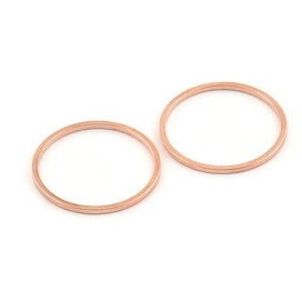 20x1mm rose gold coloured brass Circle Link