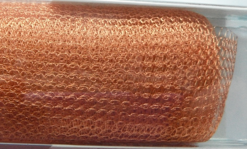 A 1 metre length of 2000 Series WireKnitZ Copper
