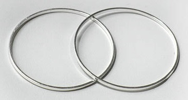 25x1mm Ring Silver Colour Lead Free Circle