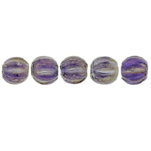 100 3mm Czech glass Melons Lustre Iris Tanzanite LR2051