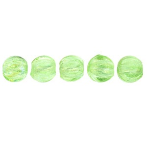 100 3mm Czech glass Melons Lustre Iris Peridot LR5050