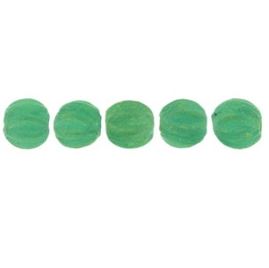 100 3mm Czech glass Melons Sueded Gold Atlantis Green MSG52060