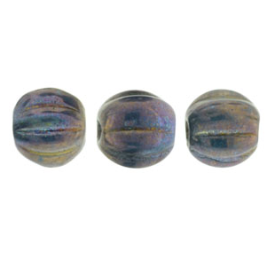 50 pack 5mm Czech Glass Melons Oxidised Bronze 15765