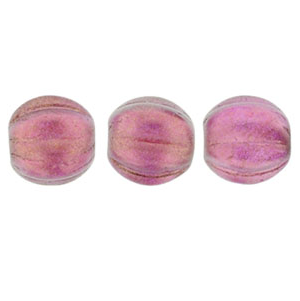 50 pk 5mm Czech Glass Melons Halo Madder Rose 29260