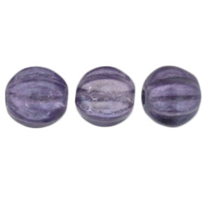 50 pack 5mm Czech Glass Melons Coated Satin Lavender K3207