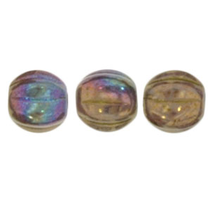 50 pack 5mm Czech Glass Melons Lustre Opaque Bronze Smoke P15780