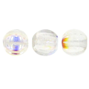 50 pack 5mm Czech Glass Melons Crystal AB X0003