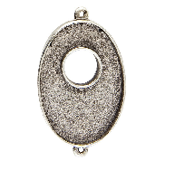 25x38mm .999 A Silver Plated Patera Double Loop Toggle Oval