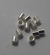 Sterling Silver 2x2 mm Crimp Tubes 100 pack