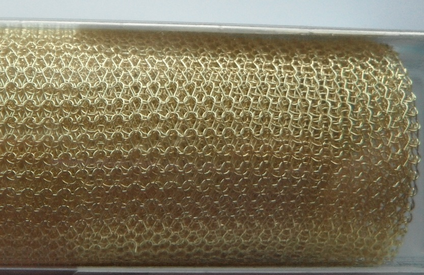 A 9 inch length of 3000 Series WireKnitZ Light Gold