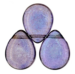 12 x 16 mm Czech Pear Drop Lustre Transparent Amethyst 15726