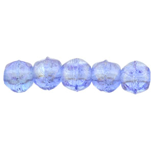 50 pk 3mm Czech English Cut Lustre Iris Sapphire LR3005