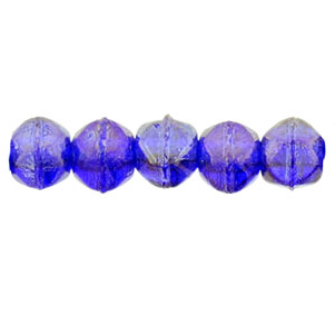 50 pk 3mm Czech English Cut Lustre Iris Cobalt LR3009