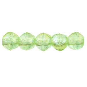 50 pk 3mm Czech English Cut Lustre Iris Peridot LR5050