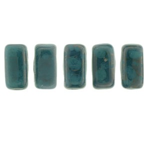 CzechMates Bricks 50 pack Persian Turquoise Moondust MD6315