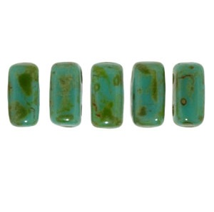 CzechMates Bricks 50 pack Picasso Persian Turquoise T6315