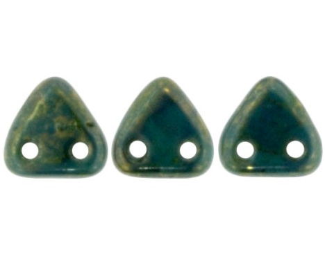 CzechMates Triangles 10g Persian Turquoise Bronze Picasso BT6315