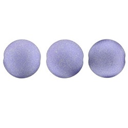 14mm Czech Cushion Round 8 Pack Satin Metallic Lavender 29425
