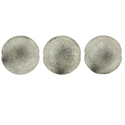 14mm Czech Cushion Rounds 8 pack Saturated Met Shark Skin 77053