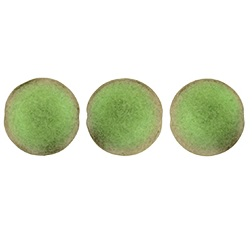14mm Czech Cushion Round 8 pack Metallic Suede Olive Mauve 79303