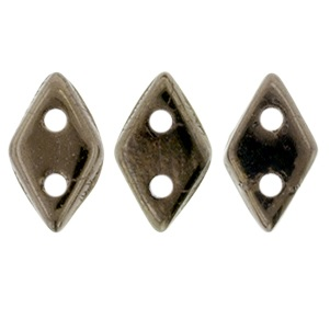 10g CzechMates 2 Hole Diamonds Dark Bronze 14415