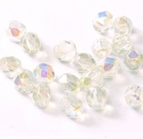 50 pack 3 mm Fire Polished Crystal Blue Rainbow 00030 98538